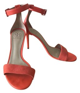 Tory Burch Suede Leather Salmon Sandals