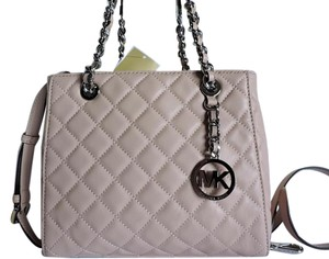 Michael Kors Quilted Leather Satchel in Ballet