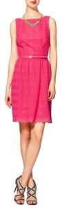 Trina Turk Lace Belted Sleeveless Dress