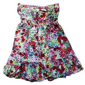 Ripe short dress Floral Strapless Flower on Tradesy