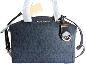 Michael Kors Coated & Leather Satchel in Baltic Blue