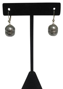 Majorica BAROQUE GREY PEARL EARRINGS