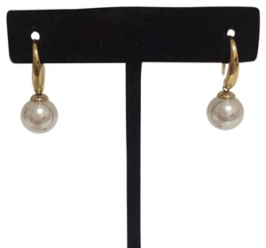 Majorica WHITE DANGLE PEARL EARRINGS
