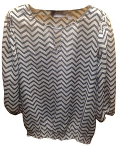 Chico's Top Beige/Black