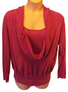 INC International Concepts Plus Size Solid Cowl Neckline 3/4 Sleeve Sweater
