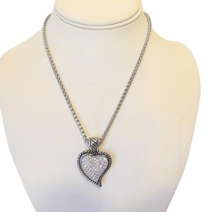 Emma Skye Crystal Heart Stainless Steel Necklace 17