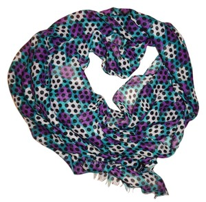 Torino Spotted Polka-Dot Sheer Thin Lightweight Scarf