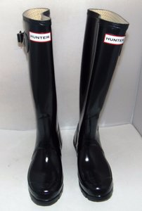 Hunter Tall Gloss navy Boots