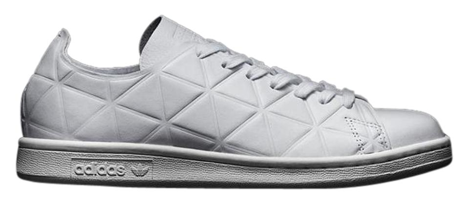 detailing 32778 086ae adidas Stan Smith Polygon Leather Embossed Leather white Athletic Image 0  ...