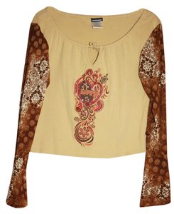 Joe Boxer Love brown paisley Halter Top