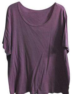 Basic Editions Pullover Shirt T Shirt Lavender