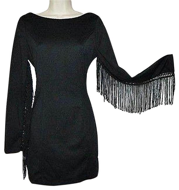 Preload https://img-static.tradesy.com/item/19376425/ark-and-co-black-fringe-long-sleeve-open-bodycon-above-knee-night-out-dress-size-8-m-0-1-650-650.jpg
