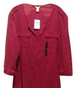 Banana Republic Color Casual Brand New With Tags Easy Wear Top Magenta
