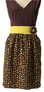 Yoana Baraschi short dress Gray/Yellow on Tradesy