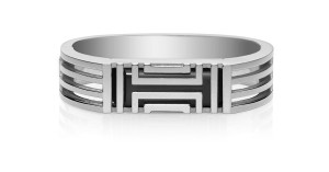 Tory Burch for Fitbit Metal Hinged Bracelet Tory Silver