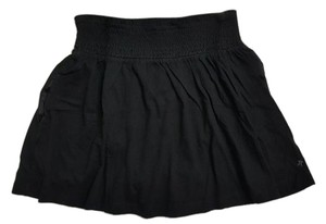 Hurley Elastic Waist Mini Cotton Mini Skirt Black