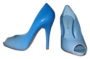 ALDO Open Toe Two Tone Blue Pumps