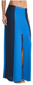 BCBGMAXAZRIA High-low High Slit Bcbg Maxi Skirt Blue