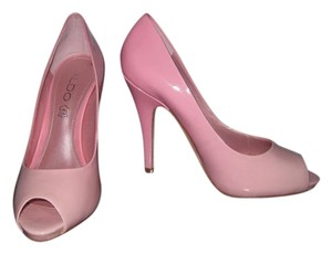 ALDO Open Toe Two Tone Pink Pumps