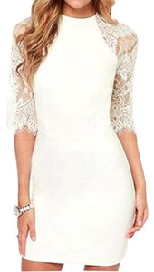 Mantos Eternity short dress White on Tradesy