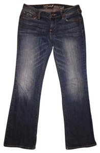 Bullhead Denim Co. Stretchy Ultra Low-rise Low Rise Short Boot Cut Jeans-Distressed