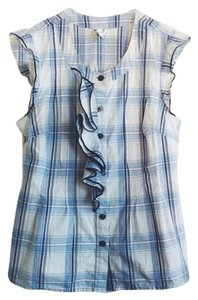 Anthropologie Edme Esyllte Plaid Top