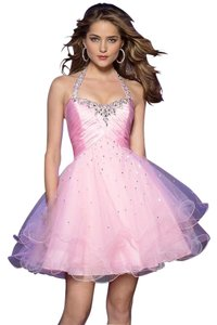Mori Lee Homecoming Short Prom Snow Ball Halter Dress
