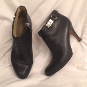 Coach Leather Pumps Black Boots
