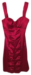 Morgan & Co Satin Pleated Slim Fitted Dress