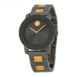 Movado Grey Ion Plated Rose Gold Stainless Steel Ladies Designer Watch