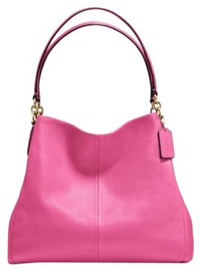 Coach Pebbled Leather Leather Shoulder Bag