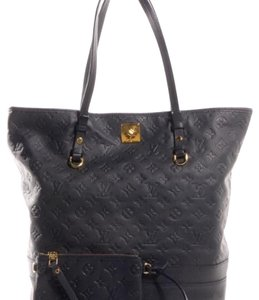 Louis Vuitton Lv Citadine Gm Monogram Empreinte Neverfull Tote in Navy Blue