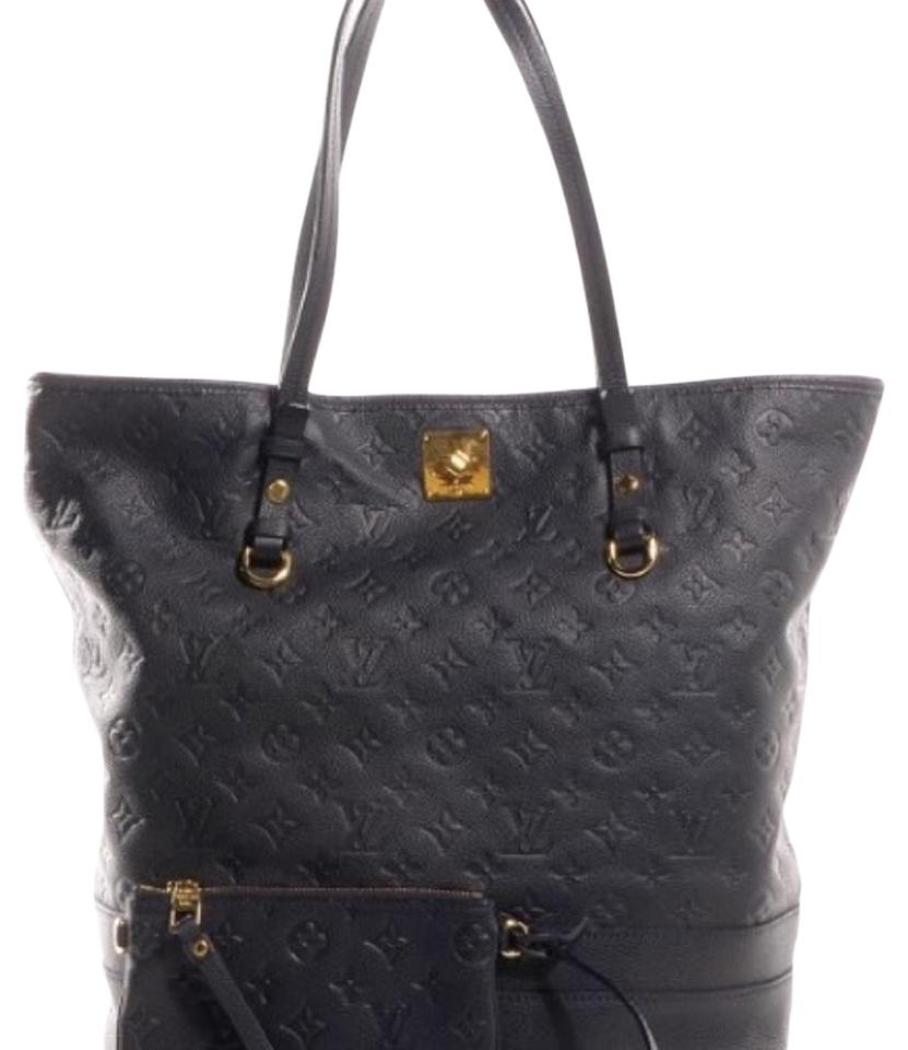 Louis Vuitton Lv Citadine Gm Monogram Empreinte Neverfull Tote in Navy Blue  Image 0 ... b3104f0ea6db9