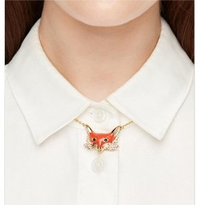 Kate Spade Kate Spade INTO THE WOODS FOX SHORT NECKLACE With dust Bag