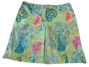 Lilly Pulitzer Bermuda Shorts Turquoise and lime green