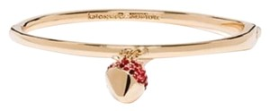 Kate Spade Kate Spade Outside The Box Gold Chocolate Dipped Strawberry Bangle