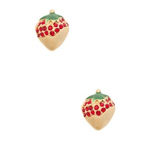 Kate Spade Kate Spade Outside The Box Chocolate Dipped Strawberry Drop Earrings