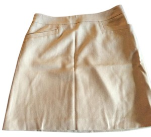 Ann Taylor Mini Skirt Beige