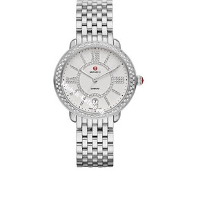 Michele NWT Serein 16 Soiree Diamond Dial Watch MW21B01A1085