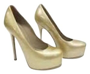 Saint Laurent Ysl Tribtoo GOLD Pumps