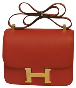 Hermès Constance Red Gold Shoulder Bag