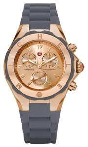 Michele NWT Michele Tahitian Jelly Bean Rose Gold and Grey watch $400