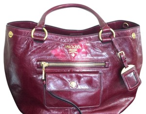 Prada Satchel in Burgundy