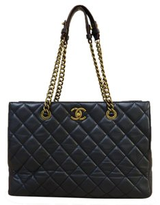 Chanel Calfskin Shopping Tote Shoulder Bag