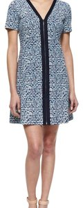 Tory Burch short dress Geometric-Print Zip-Front Ponte Dress on Tradesy