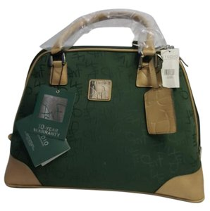 Diane von Furstenberg Canvas Strappy Tote in Hunter Green