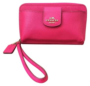 Coach NEW Coach Zip-Around Wallet for iPhone and Wristlet Purse