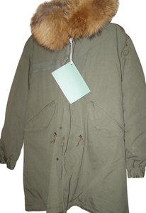 Mr & Mrs Italy Fur Lined Racoon Parka Fur Coat