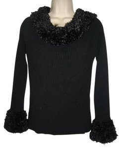 Georgiou Studio Vintage Faux Fur Pullover Sweater