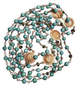 Independent Jeweler *RARE* Extra-Long Layering Necklace W/ Authentic Turquoise Beads